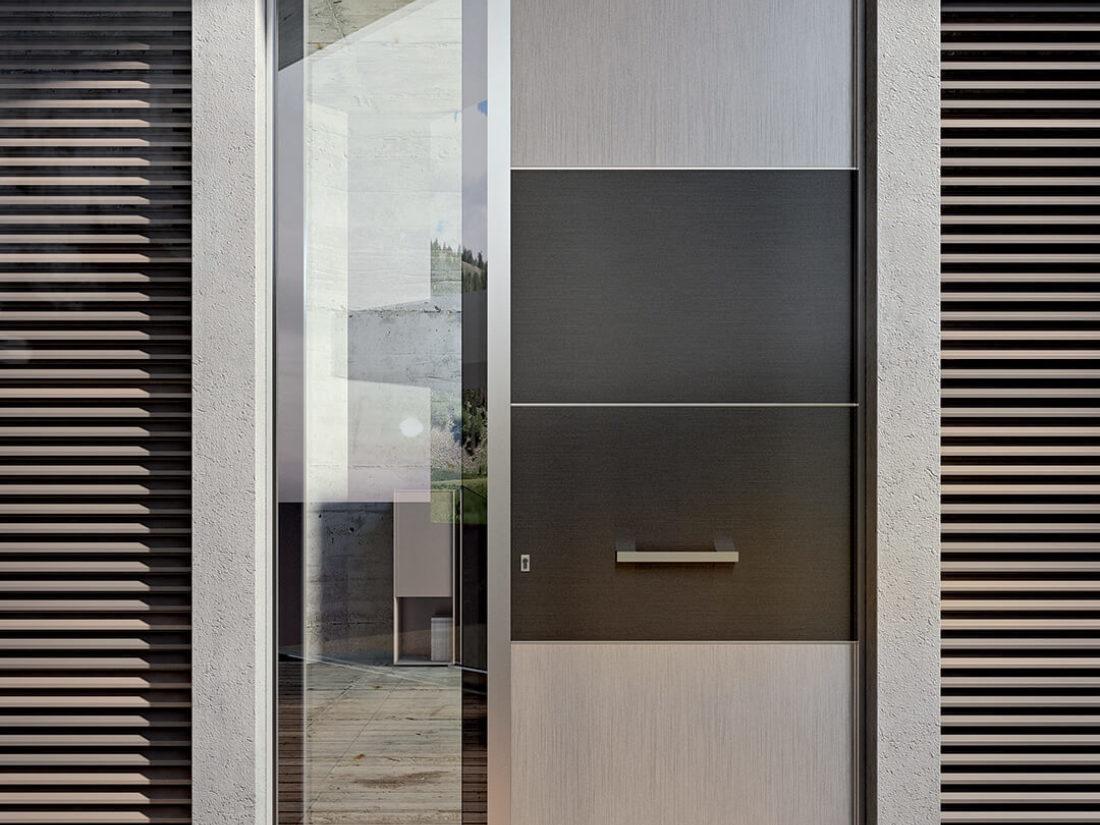 Polistamp 100 porta ingresso alluminio